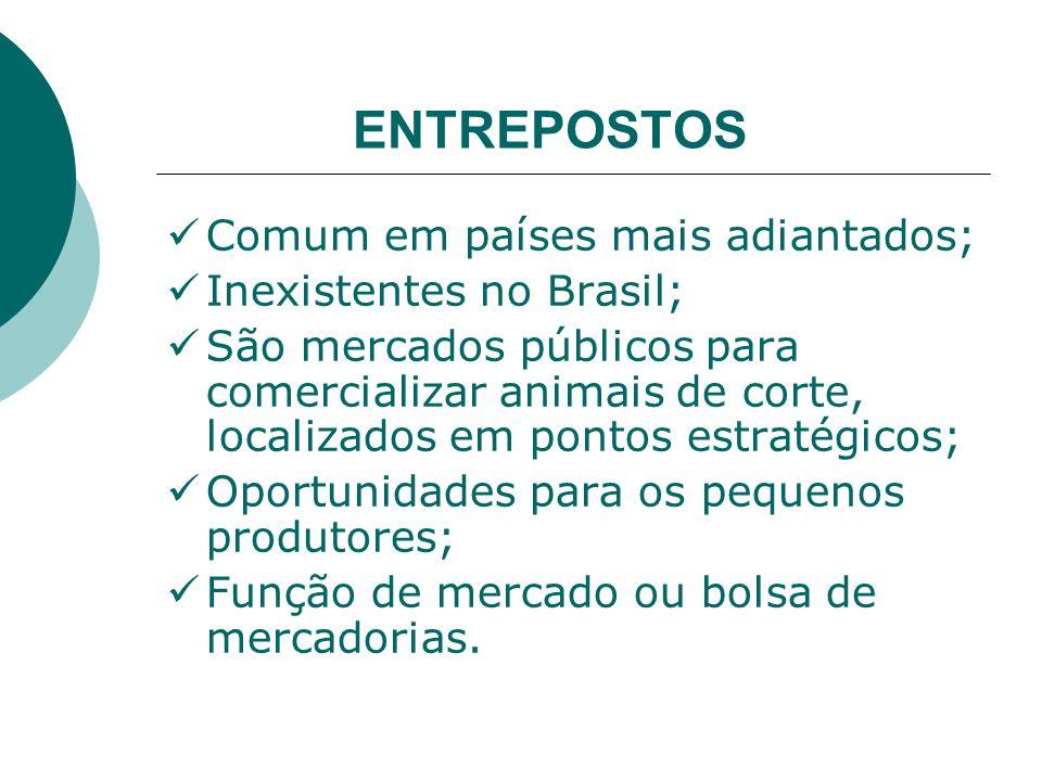 ENTREPOSTOS Comum em países mais adiantados; Inexistentes no Brasil;