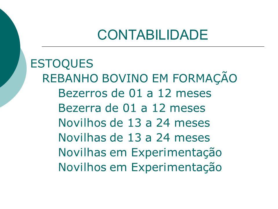 CONTABILIDADE ESTOQUES REBANHO BOVINO EM FORMAÇÃO