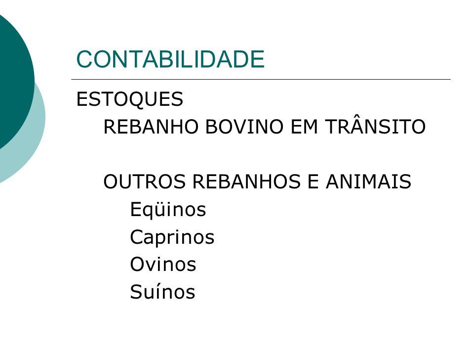 CONTABILIDADE ESTOQUES REBANHO BOVINO EM TRÂNSITO