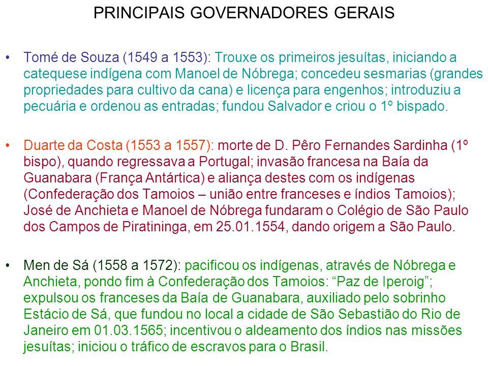 PRINCIPAIS GOVERNADORES GERAIS