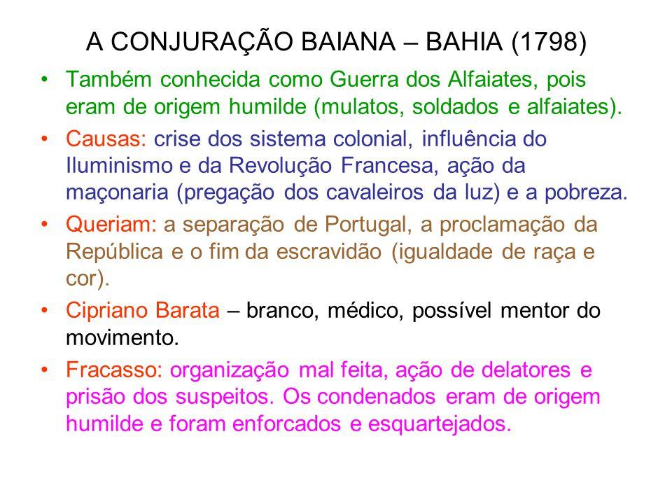 A CONJURAÇÃO BAIANA – BAHIA (1798)