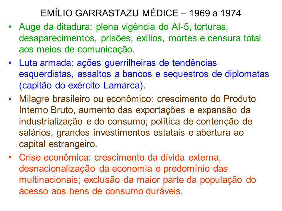 EMÍLIO GARRASTAZU MÉDICE – 1969 a 1974
