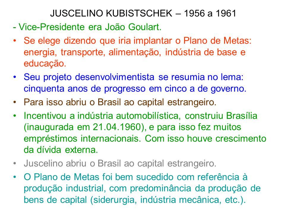 JUSCELINO KUBISTSCHEK – 1956 a 1961