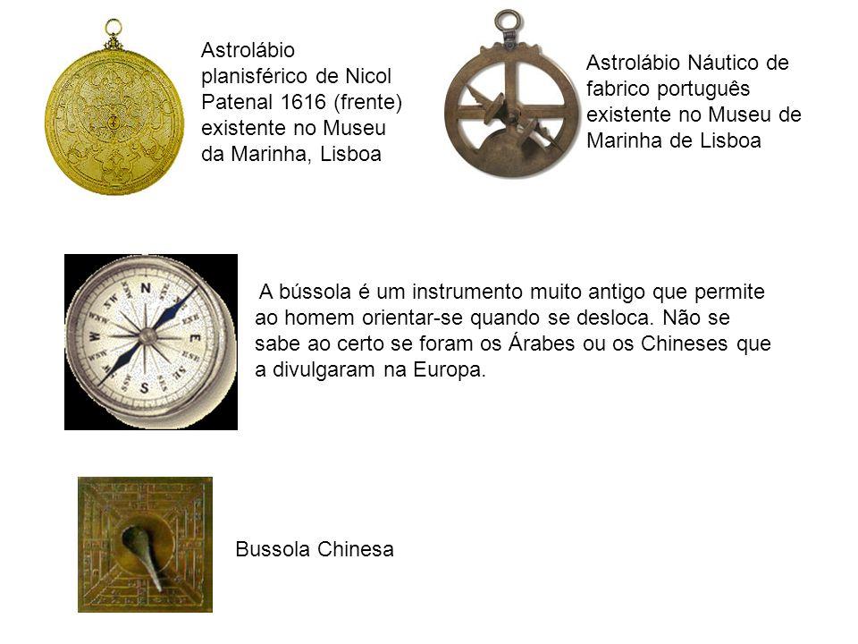 Astrolábio planisférico de Nicol Patenal 1616 (frente) existente no Museu da Marinha, Lisboa