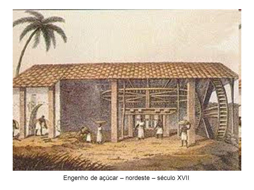 Engenho de açúcar – nordeste – século XVII