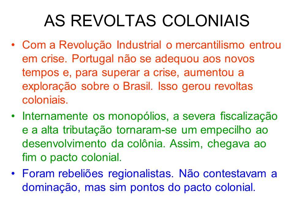 AS REVOLTAS COLONIAIS