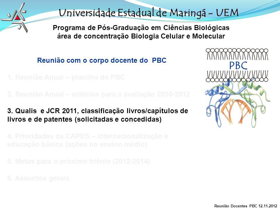 PBC Universidade Estadual de Maringá - UEM