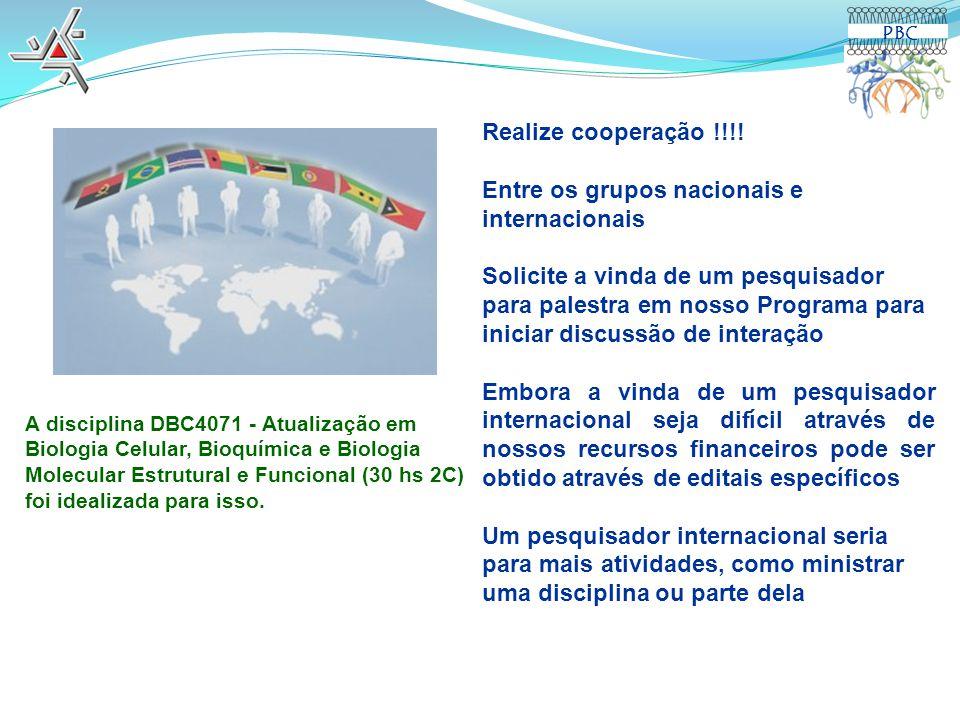 Entre os grupos nacionais e internacionais