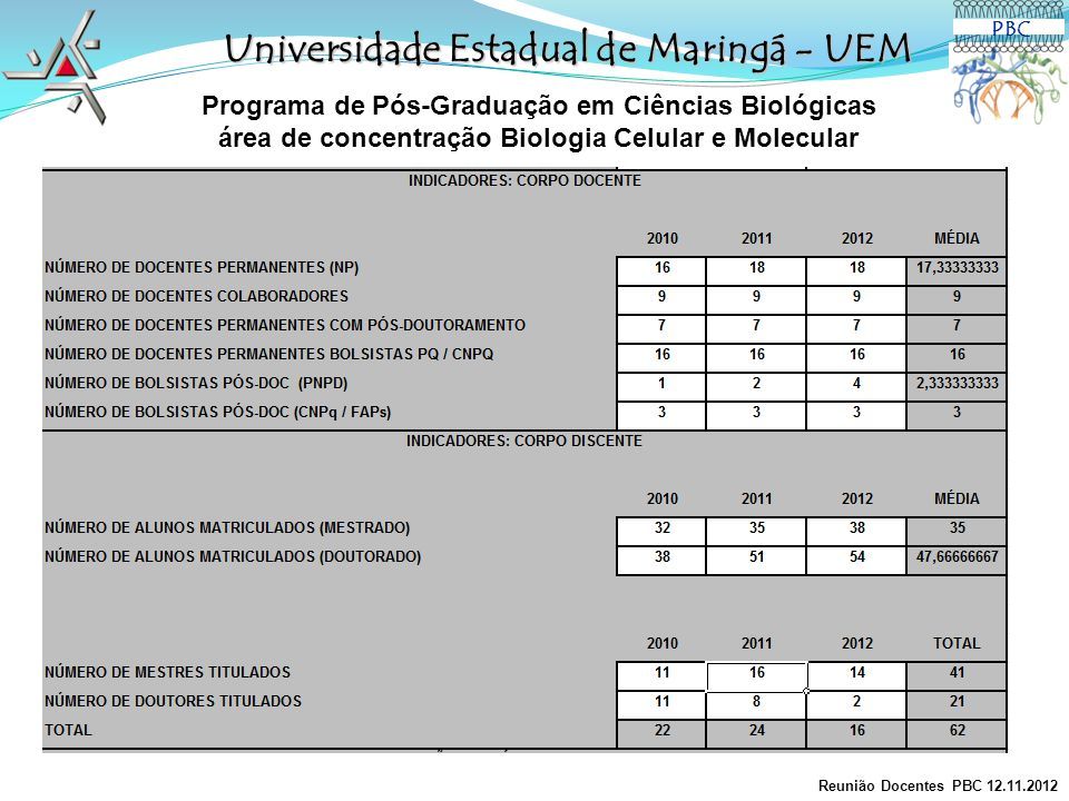 Universidade Estadual de Maringá - UEM