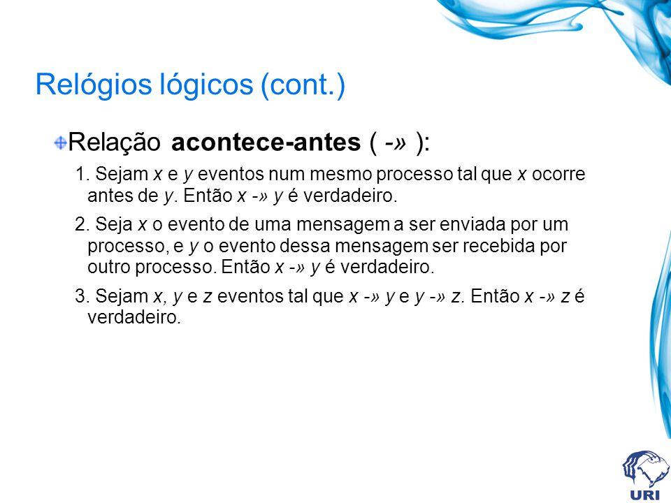 Relógios lógicos (cont.)