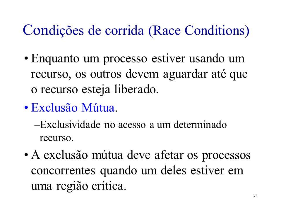 Condições de corrida (Race Conditions)