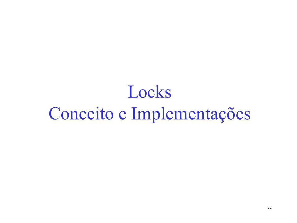 Locks Conceito e Implementações