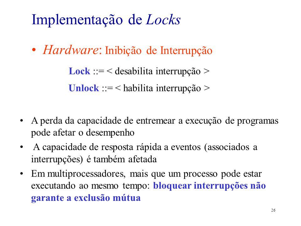 Implementação de Locks