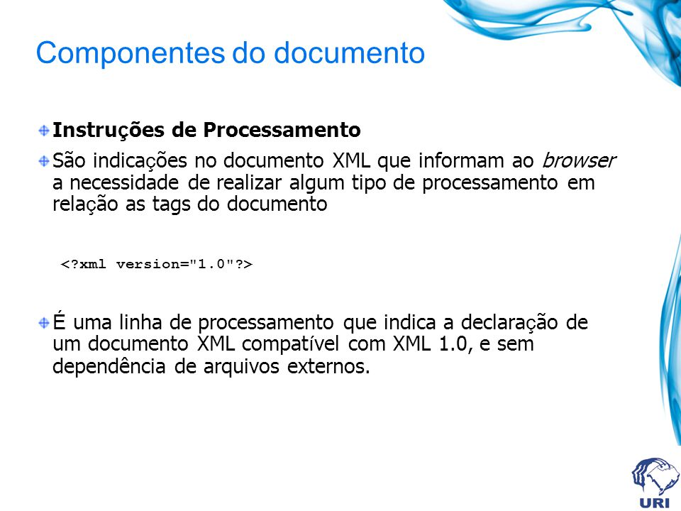 Componentes do documento