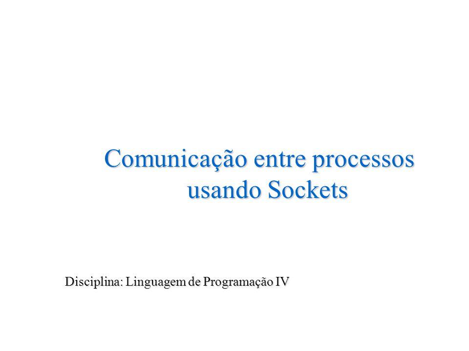Comunicação entre processos usando Sockets