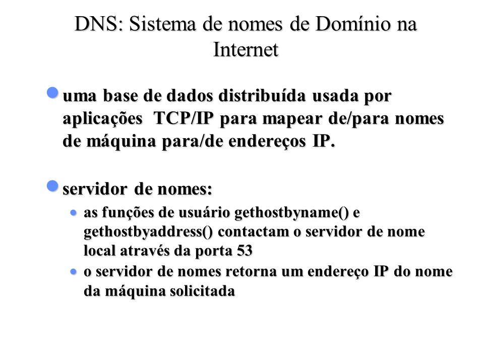 DNS: Sistema de nomes de Domínio na Internet