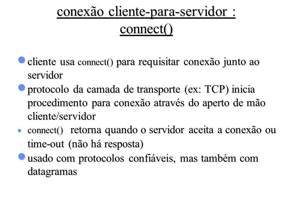 conexão cliente-para-servidor : connect()