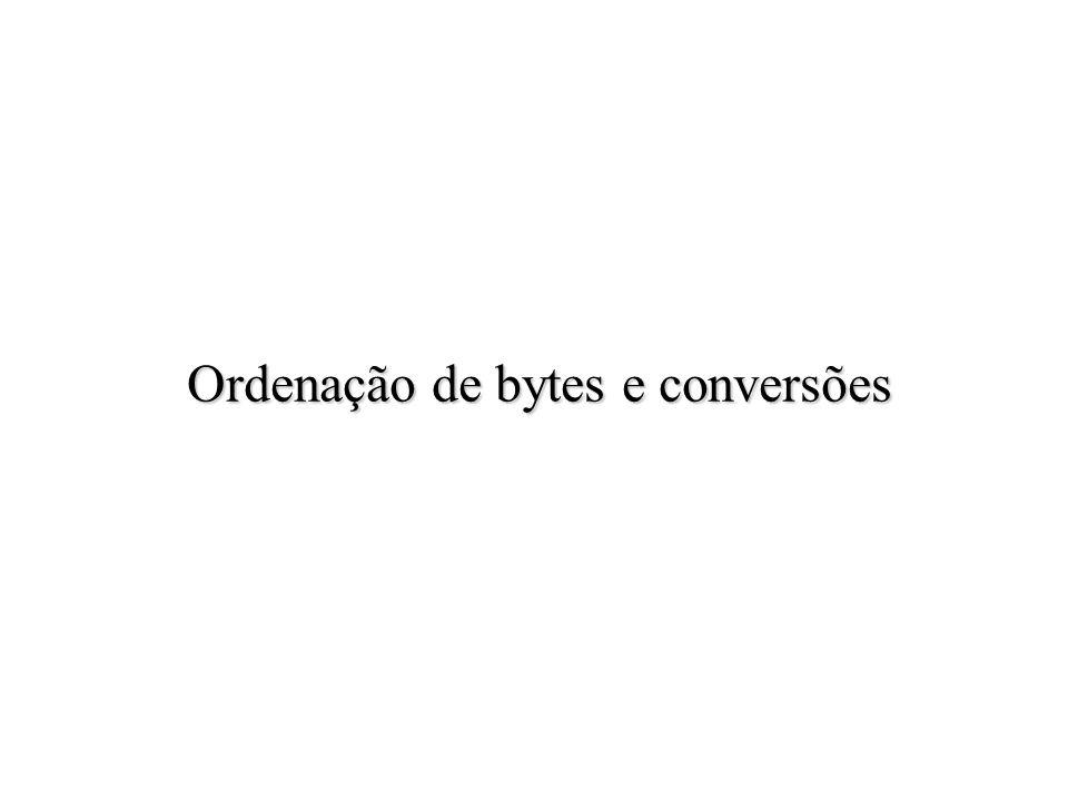 Ordenação de bytes e conversões