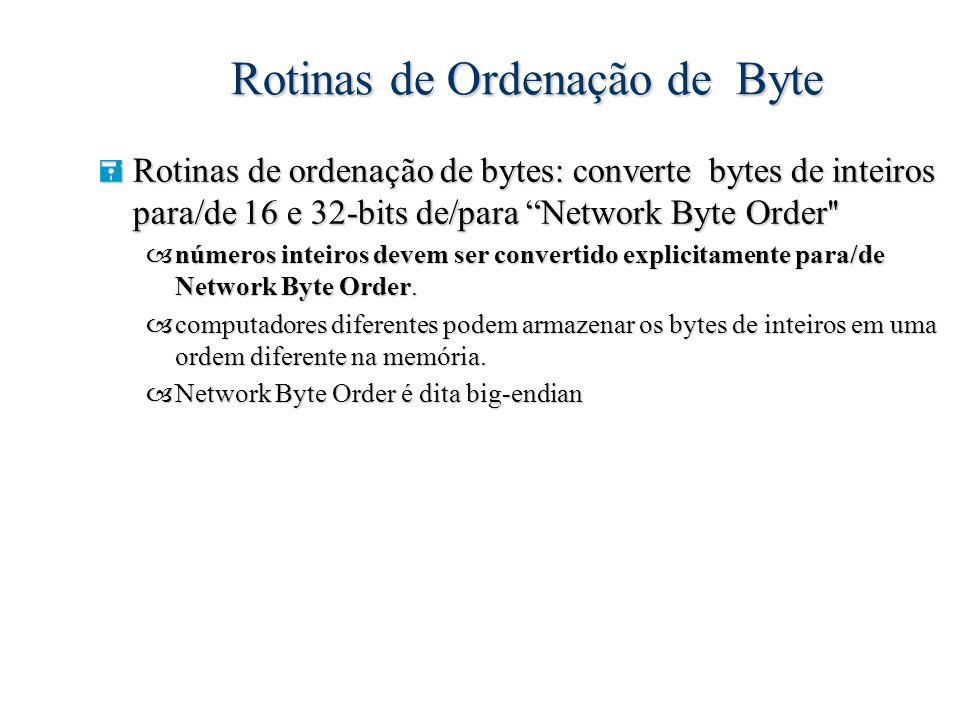 Rotinas de Ordenação de Byte