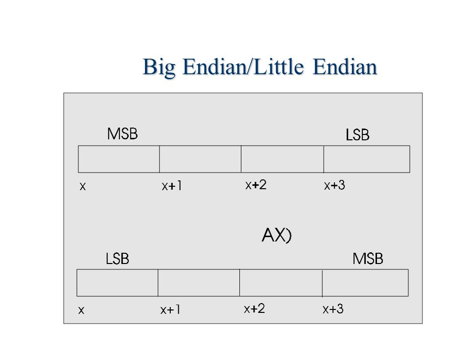 Big Endian/Little Endian