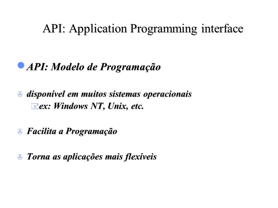 API: Application Programming interface