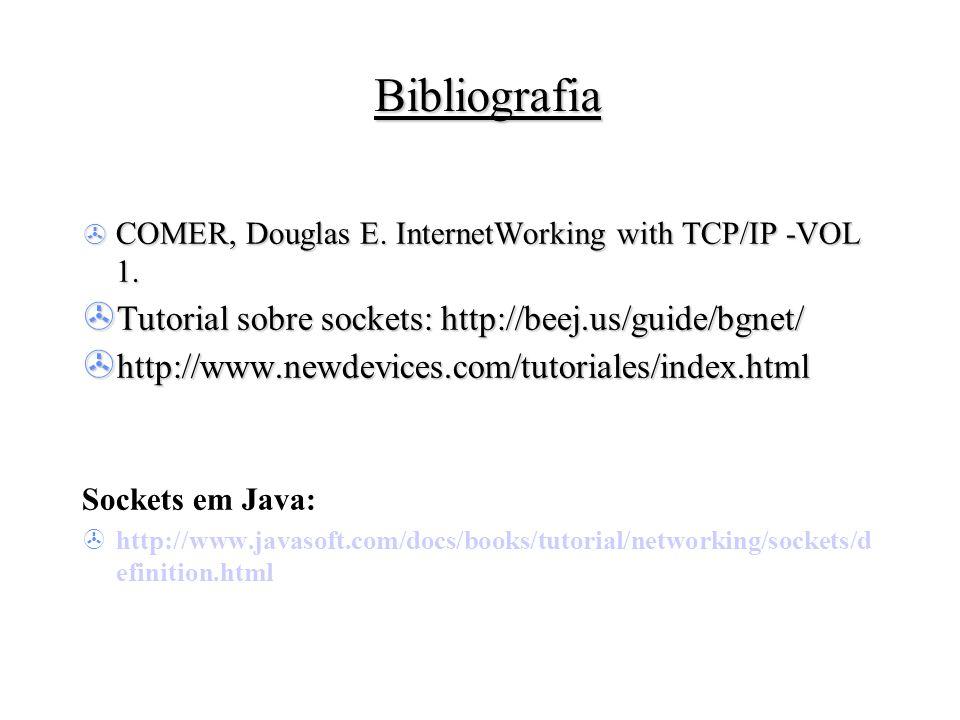 Bibliografia Tutorial sobre sockets: http://beej.us/guide/bgnet/