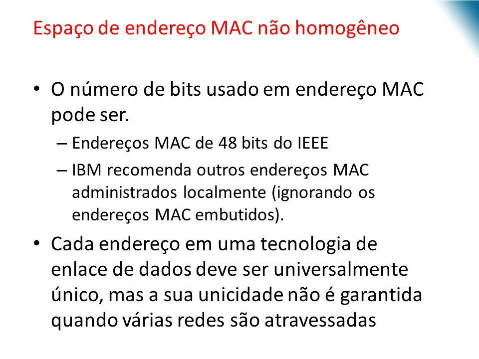 Espaço de endereço MAC não homogêneo
