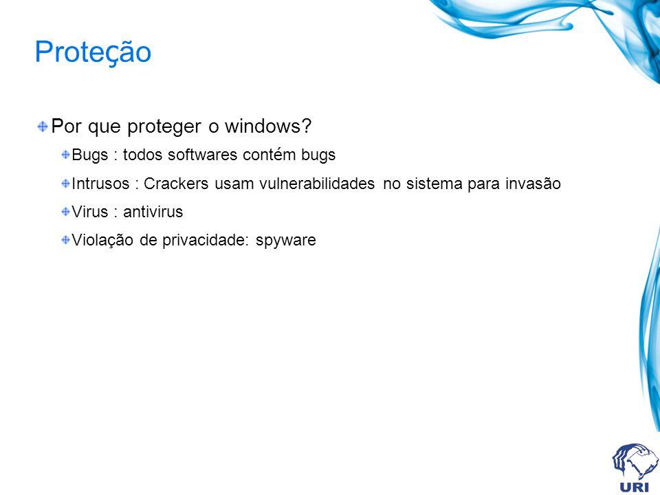 Proteção Por que proteger o windows