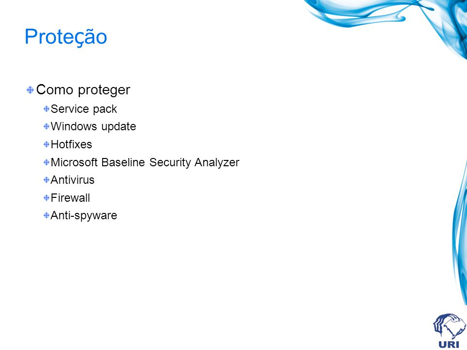 Proteção Como proteger Service pack Windows update Hotfixes