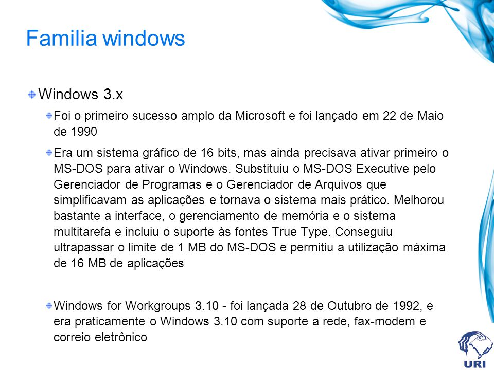 Familia windows Windows 3.x