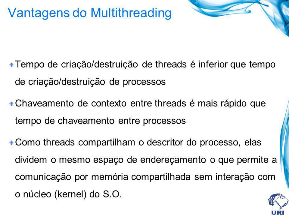 Vantagens do Multithreading
