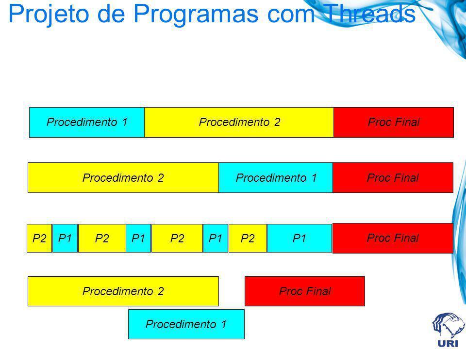 Projeto de Programas com Threads