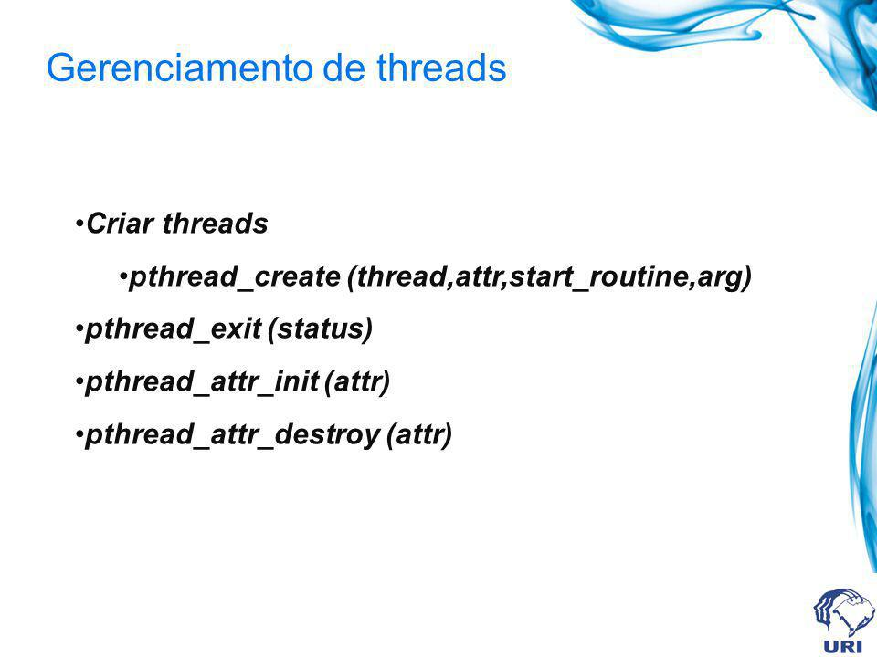 Gerenciamento de threads
