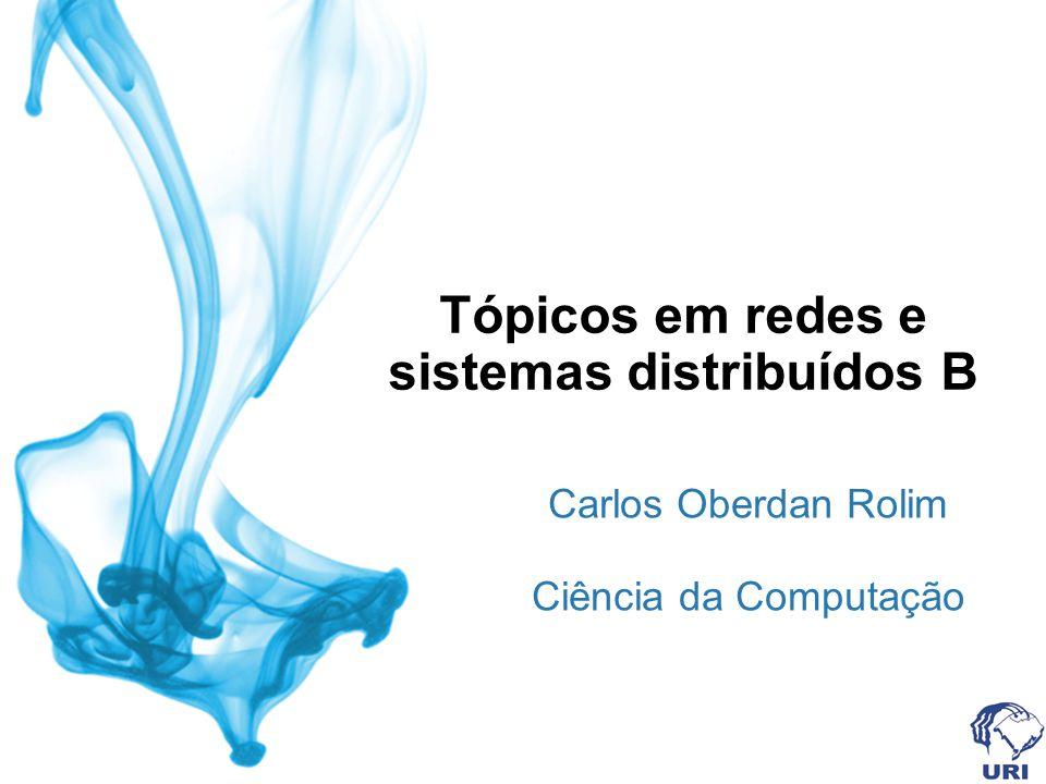 Tópicos em redes e sistemas distribuídos B