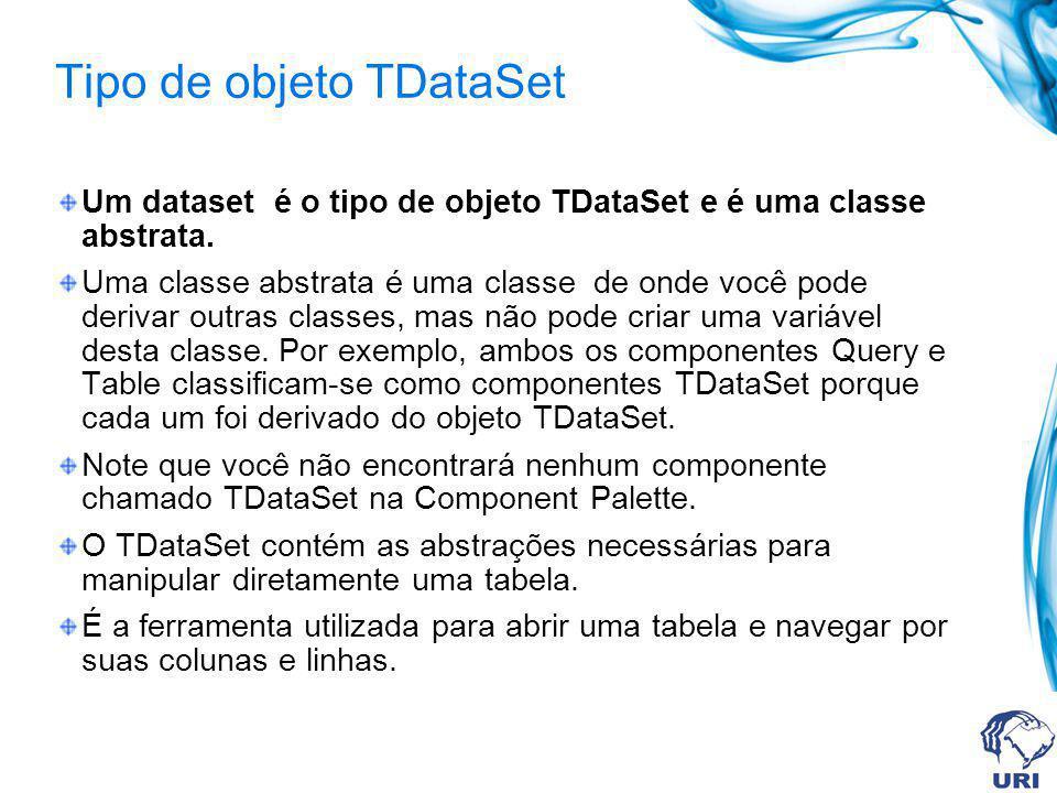 Tipo de objeto TDataSet