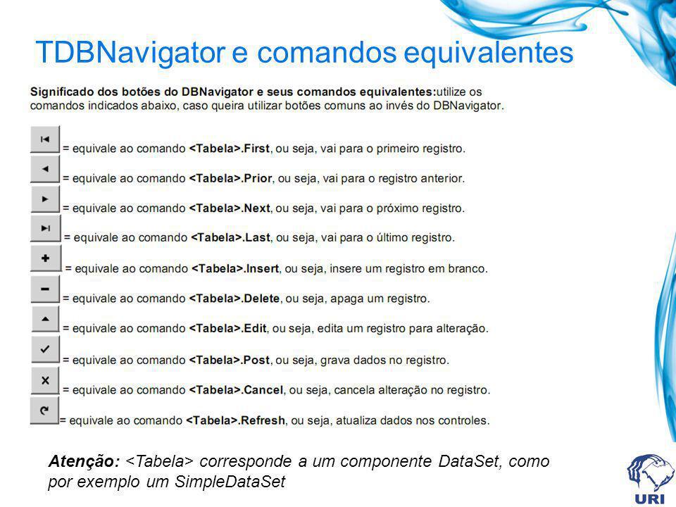 TDBNavigator e comandos equivalentes