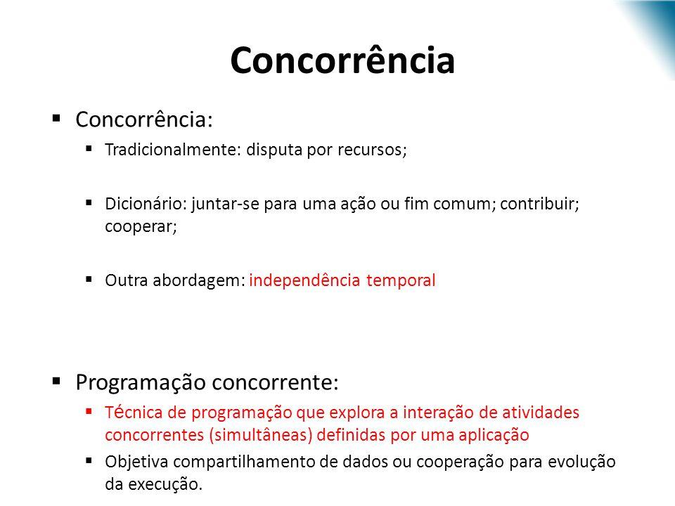 Concorrência Concorrência: Programação concorrente: