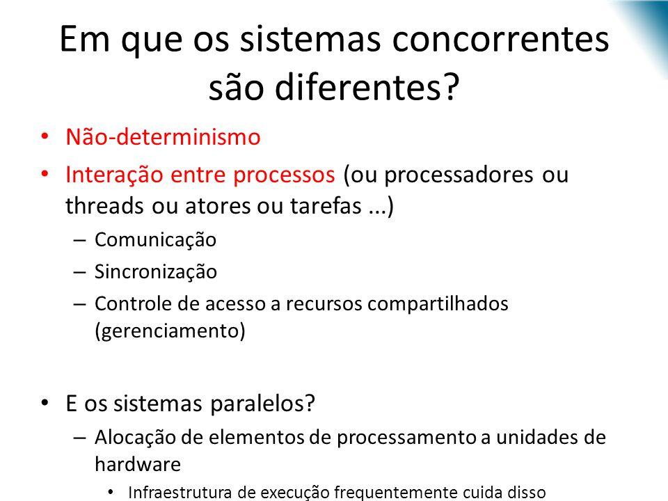 Em que os sistemas concorrentes são diferentes