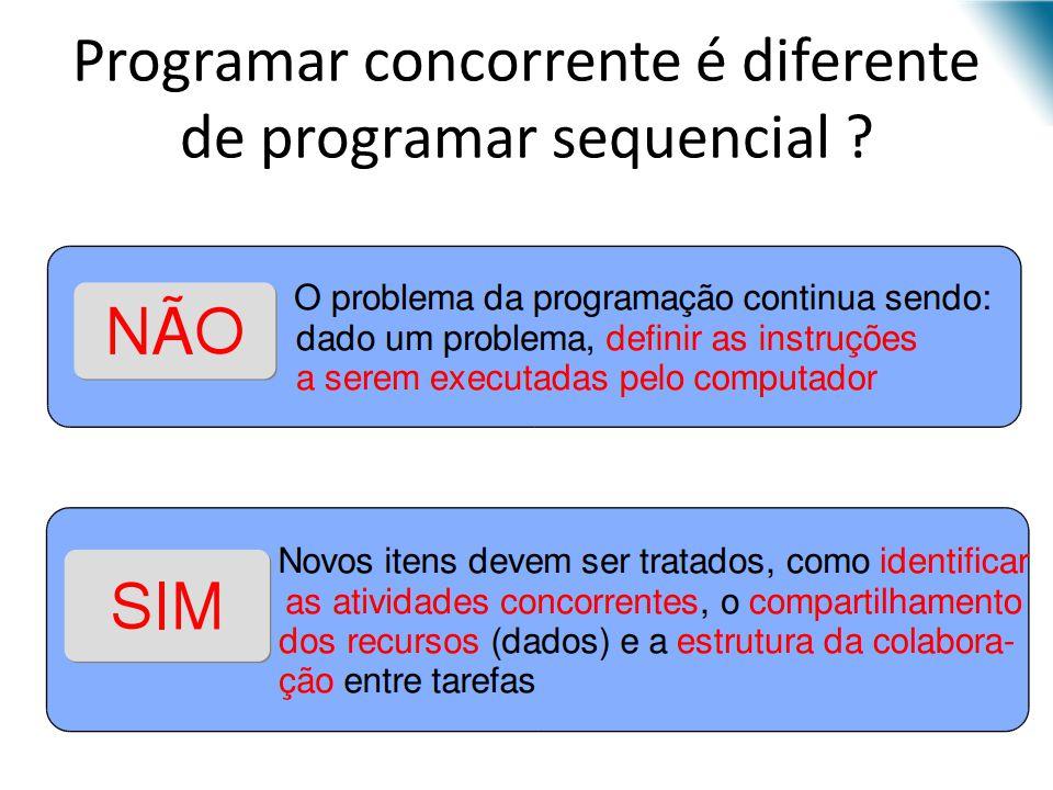 Programar concorrente é diferente de programar sequencial