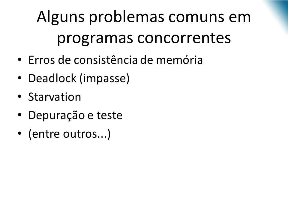 Alguns problemas comuns em programas concorrentes