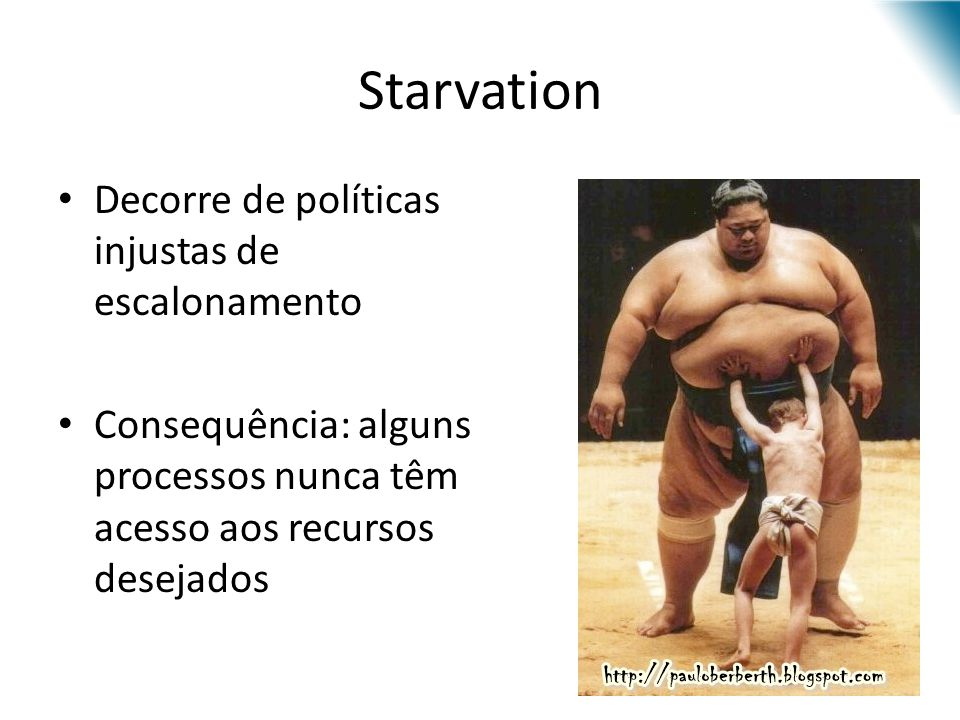 Starvation Decorre de políticas injustas de escalonamento