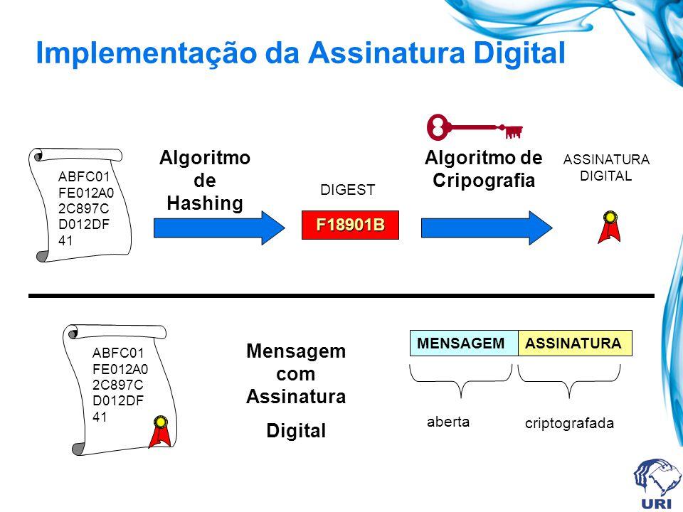 Implementação da Assinatura Digital