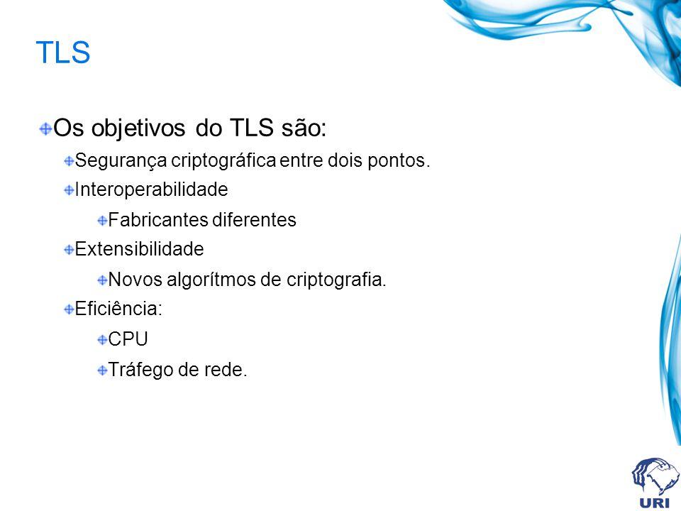 TLS Os objetivos do TLS são: