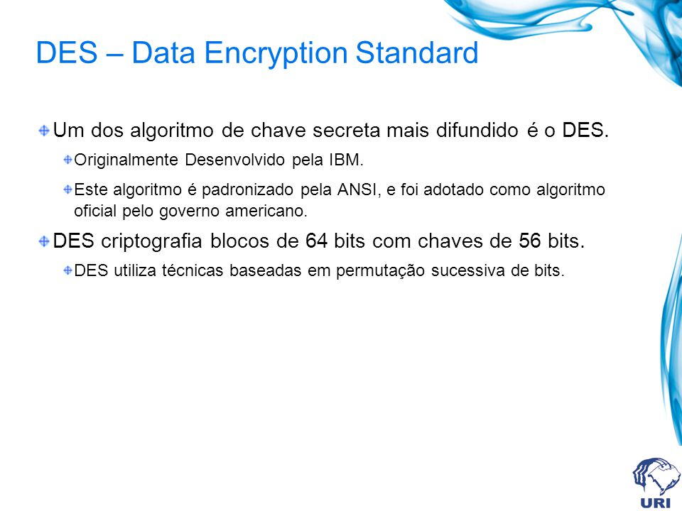 DES – Data Encryption Standard