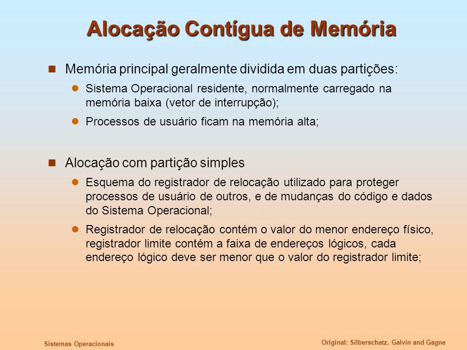 Alocação Contígua de Memória