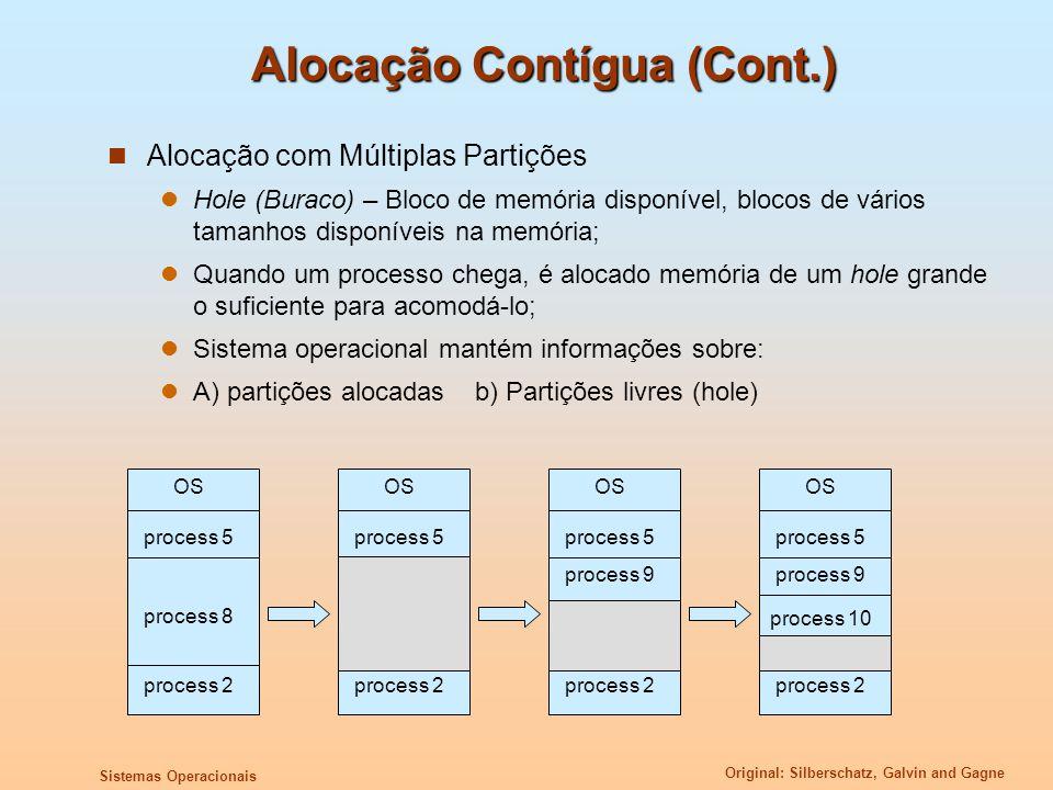 Alocação Contígua (Cont.)