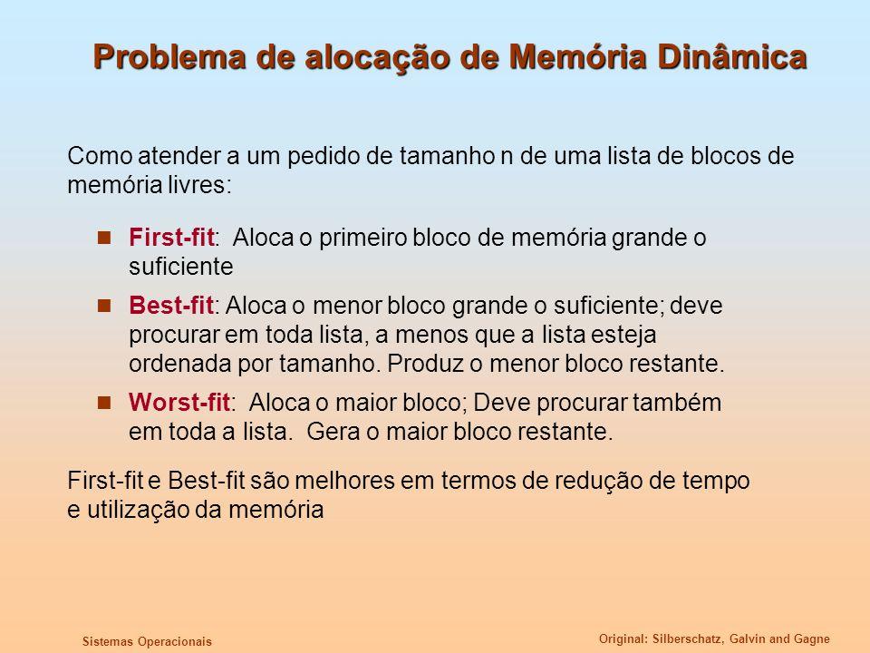 Problema de alocação de Memória Dinâmica