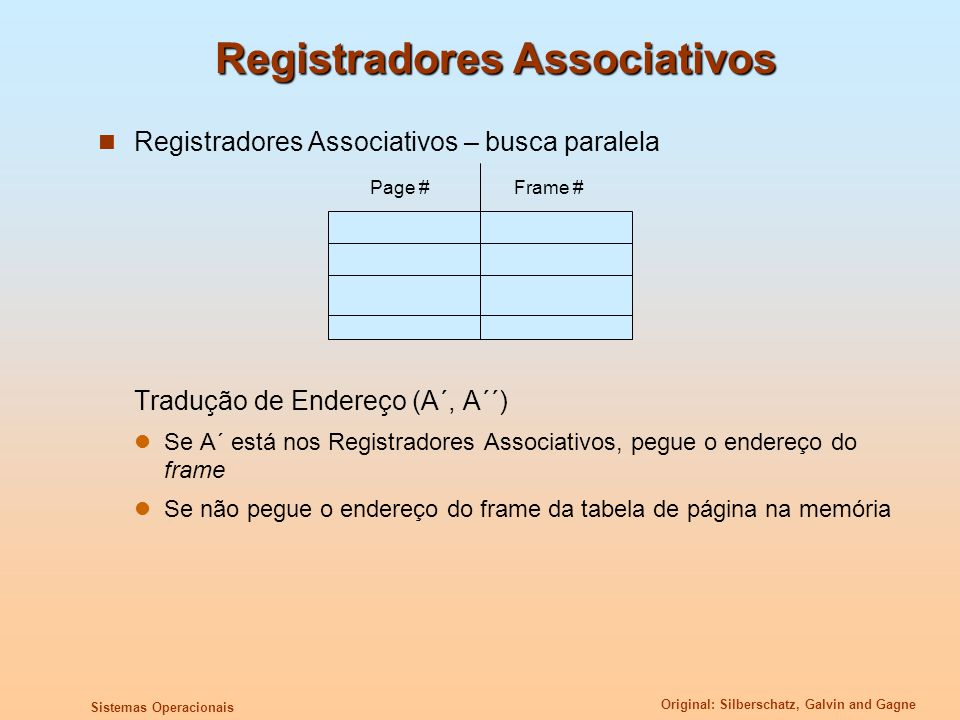 Registradores Associativos