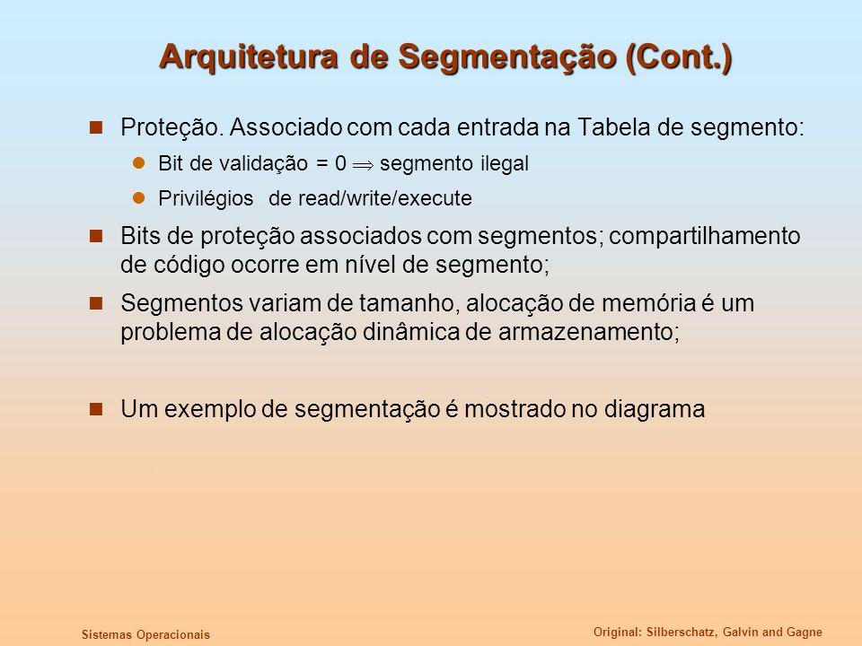 Arquitetura de Segmentação (Cont.)