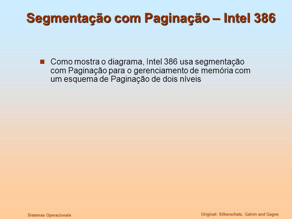 Segmentação com Paginação – Intel 386